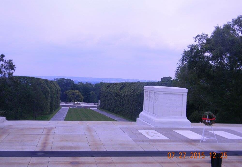 Tomb of the Unknown Soldier, Arlington National Cemetery, Arlington, Virginia, 7-27-2015 - 0